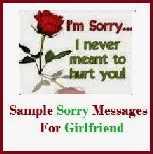 Best sorry messages to girlfriend