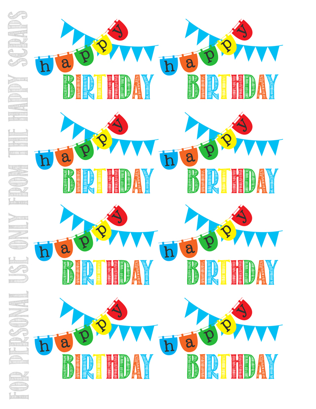 Lucrative image regarding free printable birthday tag