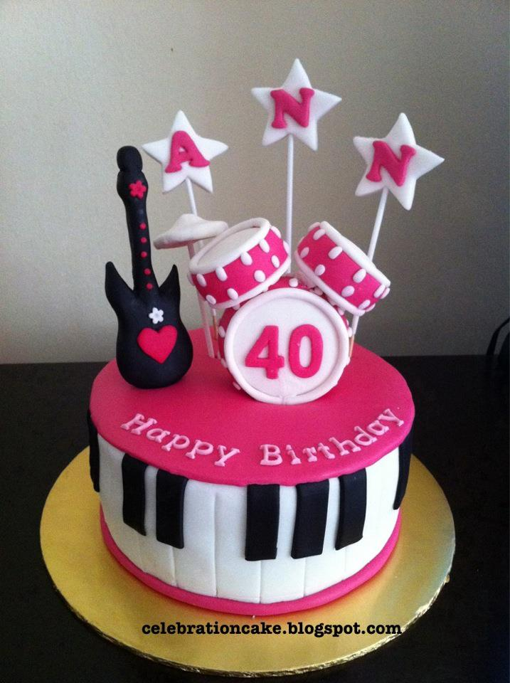 Cake Decorations Musical Instruments : Celebration Cake: Musical Instruments Theme