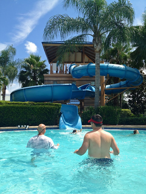 Large water slide at the Hilton Orlando