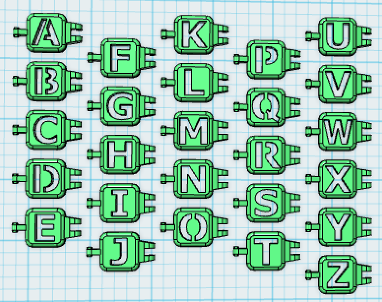 After some experimenting with snap together parts , I came up with a ... S Alphabet 3d