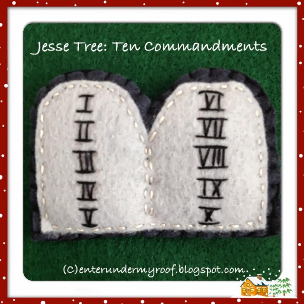 jesse tree ornaments  ten commandments  u2013 faith and fabric