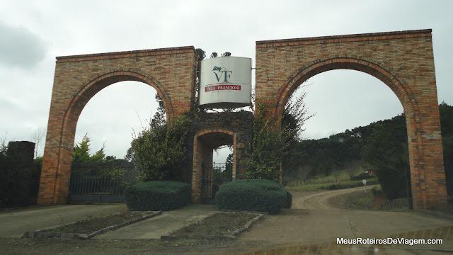 Entrada da vinícola Villa Francioni - São Joaquim/SC