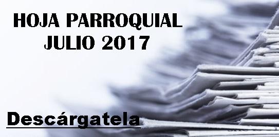 Hoja Parroquial Julio 2017