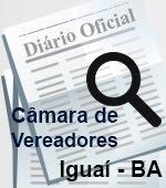 Diário Oficial da Casa de Leis de Iguaí