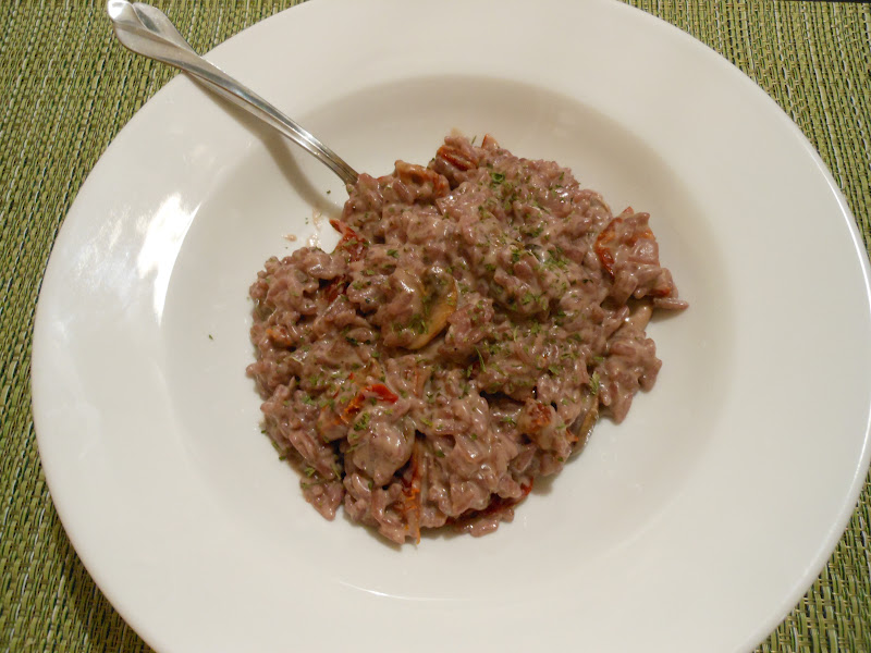 Flavors by Four: Red Wine Risotto with Sundried Tomatoes ...