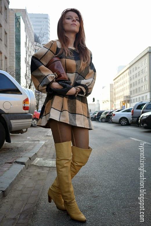 moda krata stylizacje