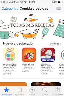 Las app de Mis Recetas destacadas en Apple Store