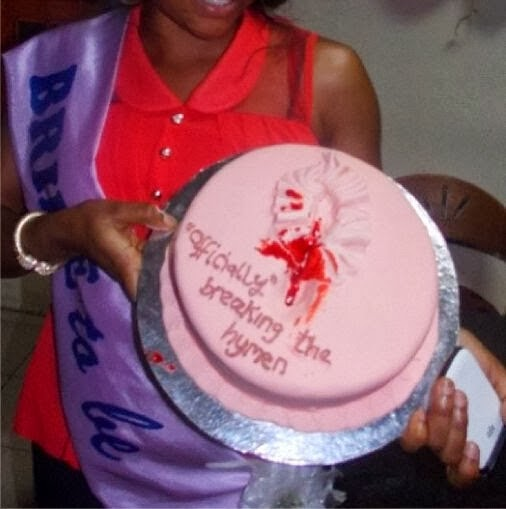 "Photo: ""Officially"" Breaking the Hymen- Virgin Wife Bakes Cake to ..."