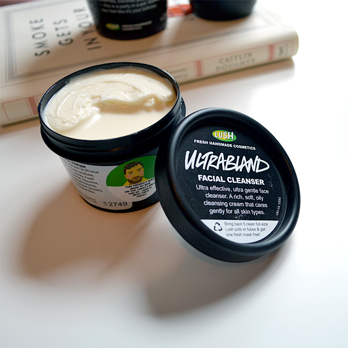 A picture and a review of Lush Ultrabland Facial Cleanser