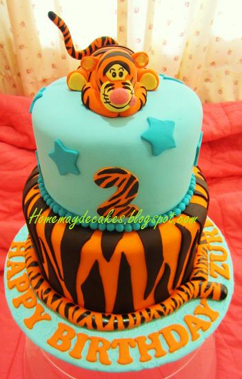 Home Mayde Cakes The Making Tigger Birthday Cake