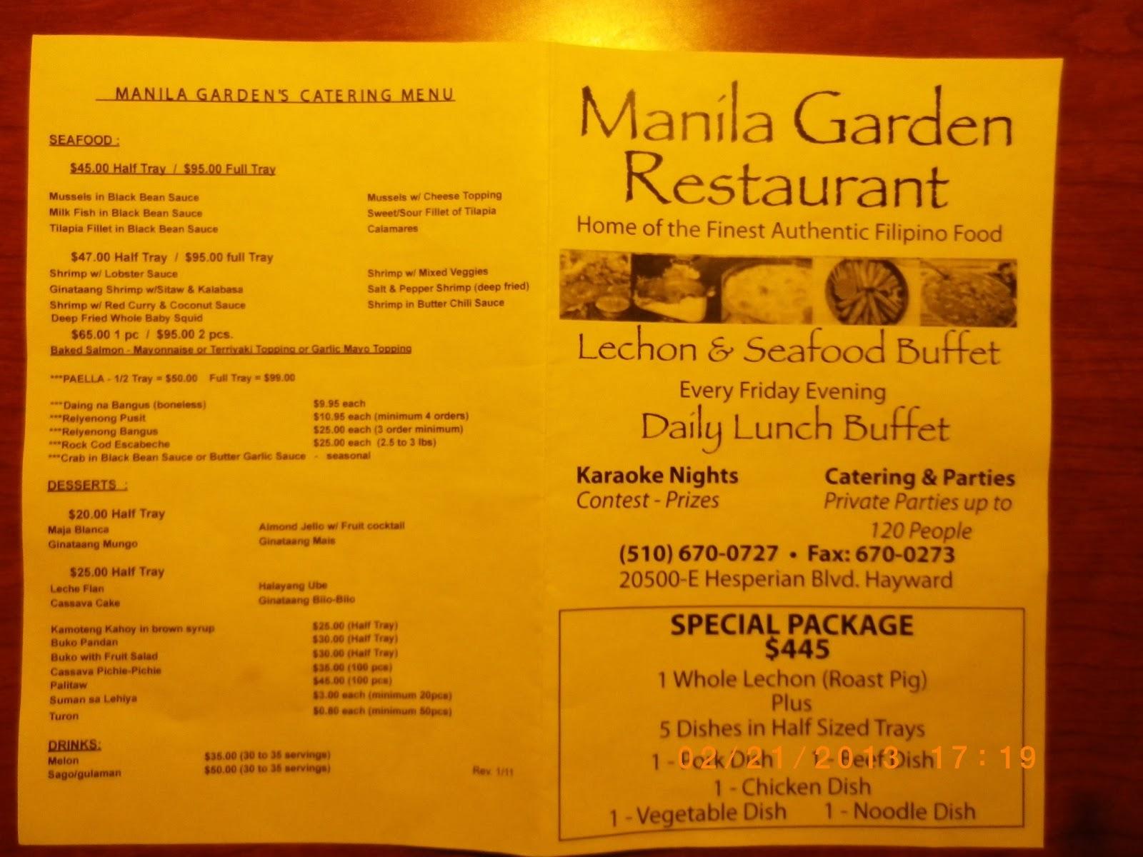 Vc Menu Manila Garden Hayward