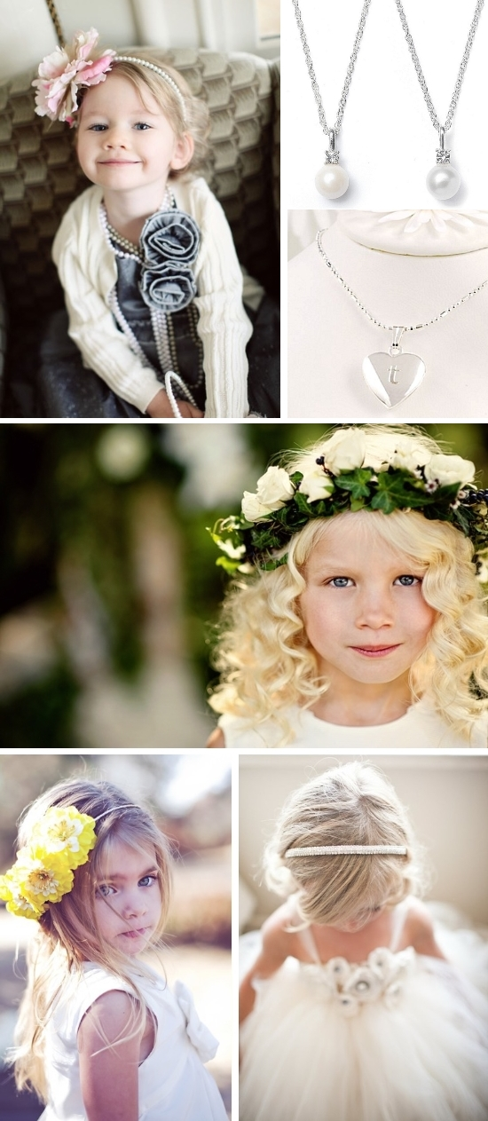 Another option to dress up your little wedding attendant is a flower hair