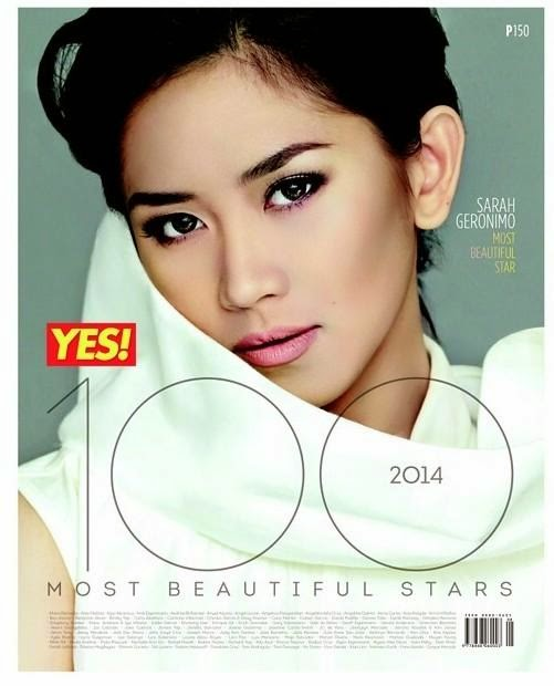 Sarah Geronimo Yes! 100 Most Beautiful People of 2014