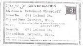 Original Nation of Islam-Nationality Card