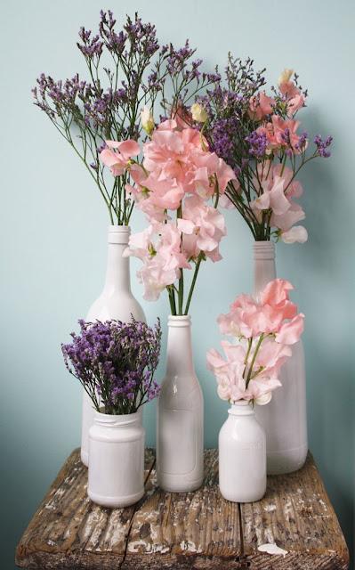 Jarrón flores DIY