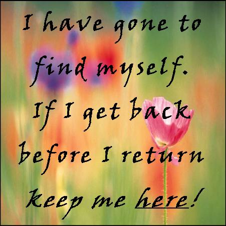 If I wander off...