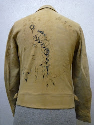 "30's ""BLACK BROTHERS""  A-1 STYLE BACKSKIN LEATHER JACKET WITH HAND PAINTING"