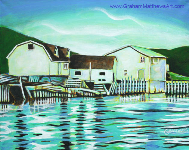 Wharves and Stages - Acrylic Painting