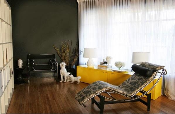 Salon Gris Blanc Jaune  DÃ coration salon avec l accent jaune cor de