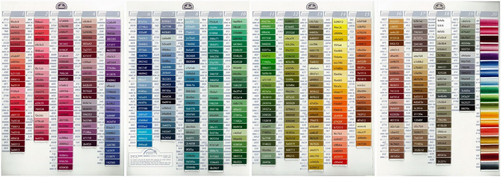 Hex Color Chart Ibovnathandedecker