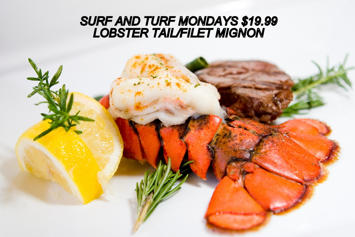 Lobster Tail Dinner Menu Surf and turf monday dinner