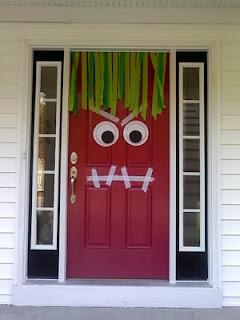 Brujitadelux puertas decoradas halloween for Puertas decoradas halloween calabaza