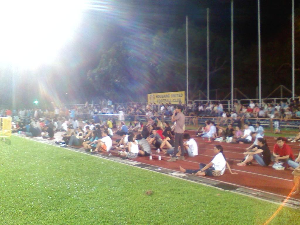 HOUGANG UNITED FC Full House At Cheetah s Home Game