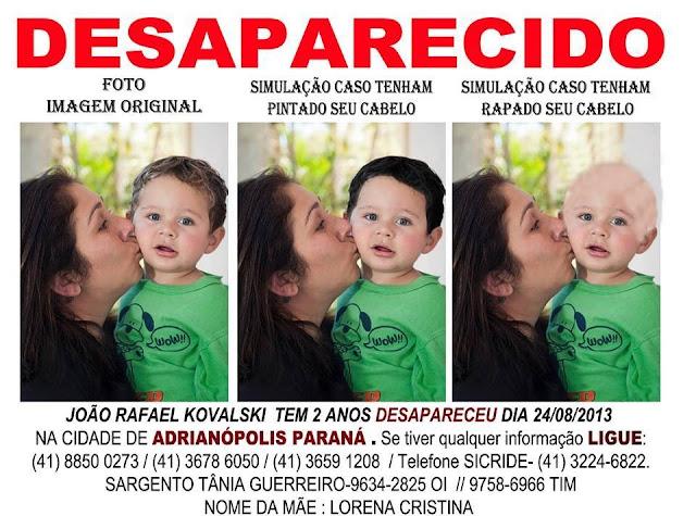 Gêmeos João Rafael está desaparecido