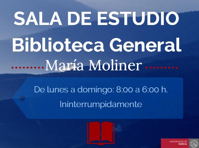 Sala de Estudio de la Biblioteca General María Moliner.