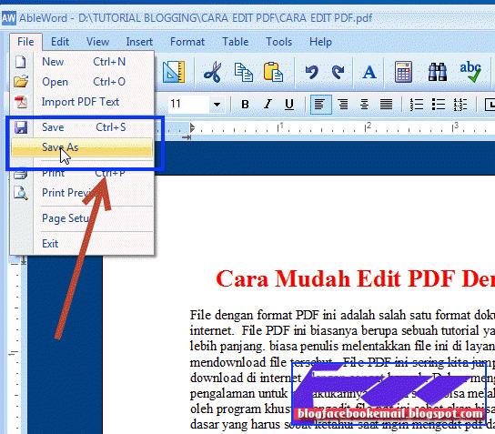 Cara Edit Text Data Gambar di Dalam FIle PDF Dengan Software Gratis