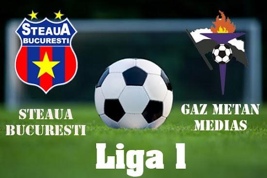 Gaz Metan Mediaş Steaua Bucureşti Live online pe internet