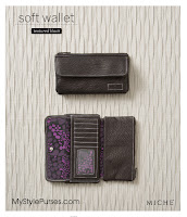 Miche Textured Black Soft Wallet