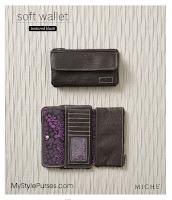 Miche Textured Black Soft Wallet