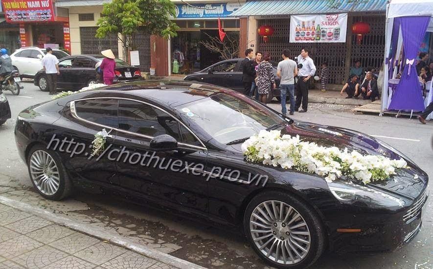 Cho thuê siêu xe đám cưới  Aston Martin Rapide ở Đức Vinh Trans