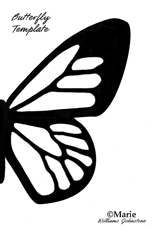 Full page butterfly wing template