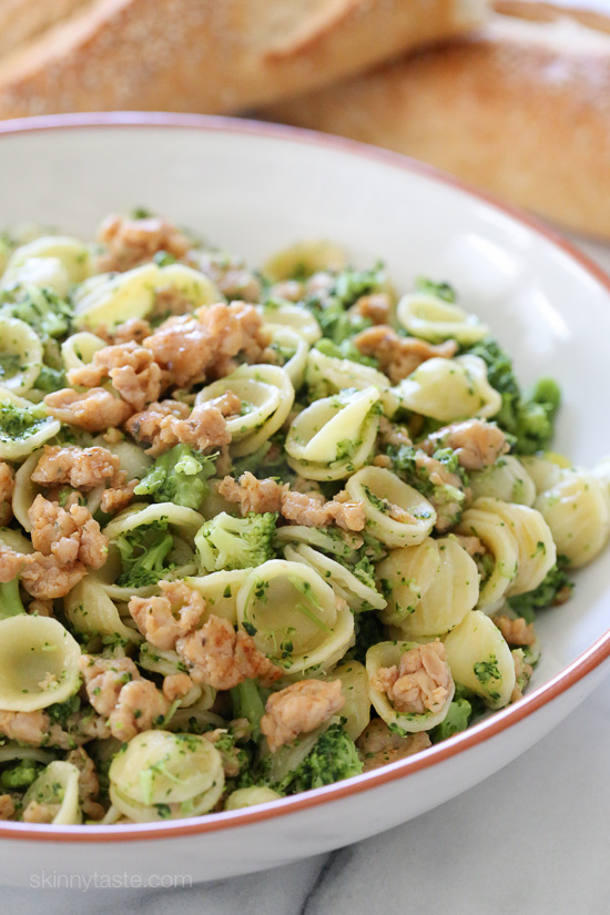Orecchiette Pasta with Chicken Sausage and Broccoli – an easy kid ...