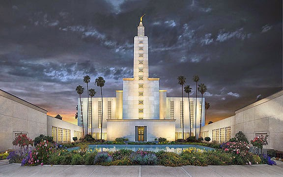 Los Angeles LDS Temple Painting
