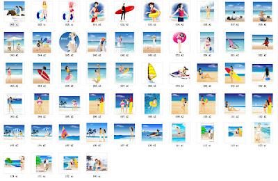 vekt�r yaz beach resort ambalaj malzemesi
