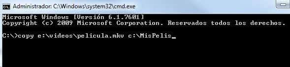 Copiar archivo desde MSDOS