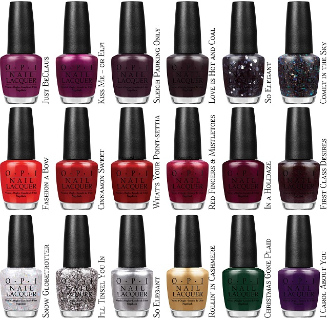 OPI Gwen Stefani Holiday 2014 Nail Lacquer Collection