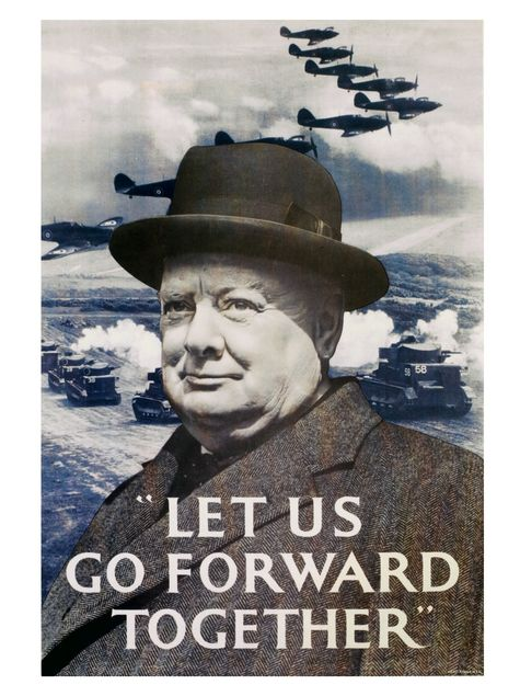 WWII poster: Churchill
