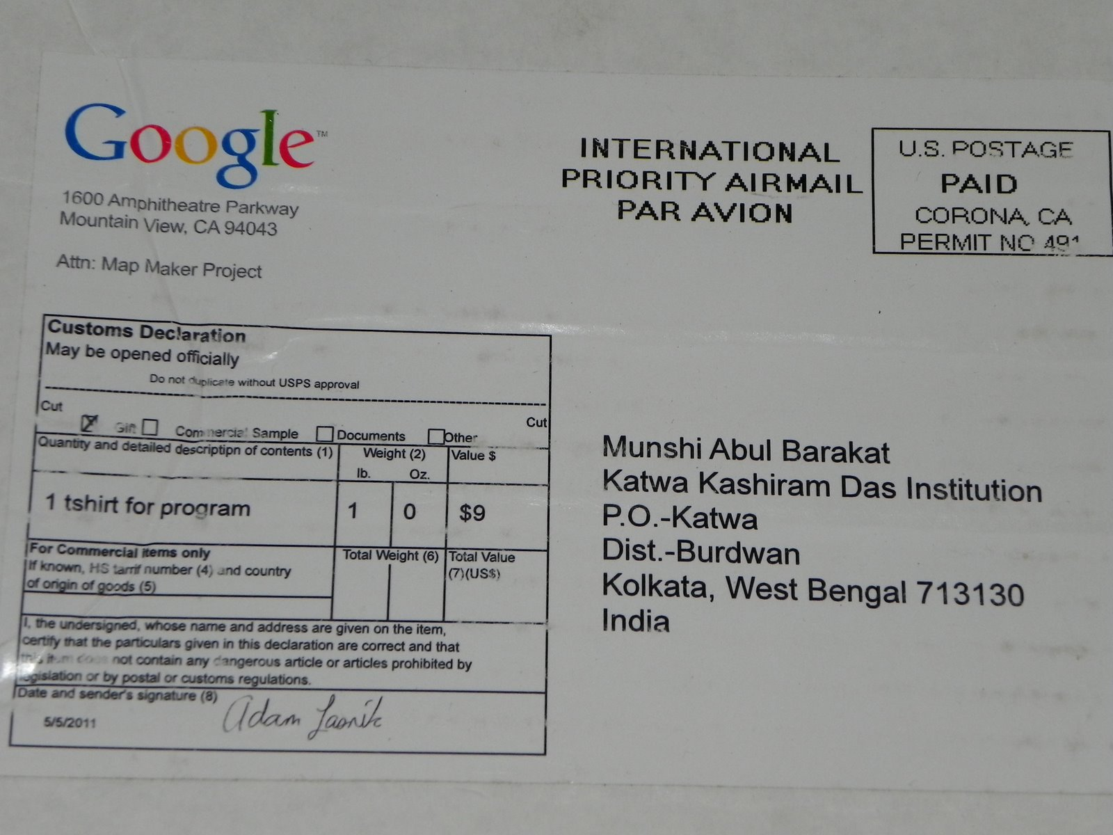 certificate from google map maker