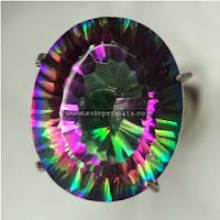 Batu Permata Rainbow Quartz