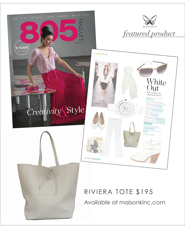 Maison K Riviera Tote Featured in 805 Living