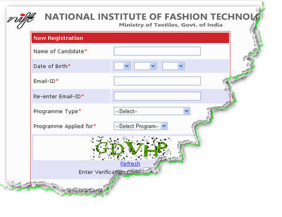 NIFT Entrance Exam 2013 Online Form