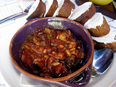 Eggplant Caponata with Goat Cheese at The Purple Pig in Chicago - Photo by Michelle Judd of Taste As You Go