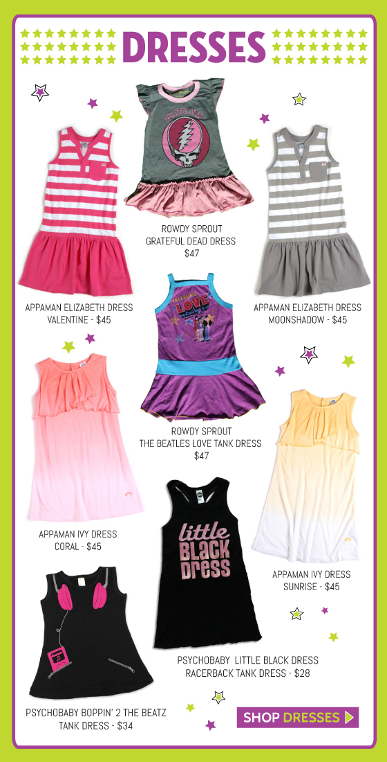 Girls' Dresses and Baby Dresses for Spring