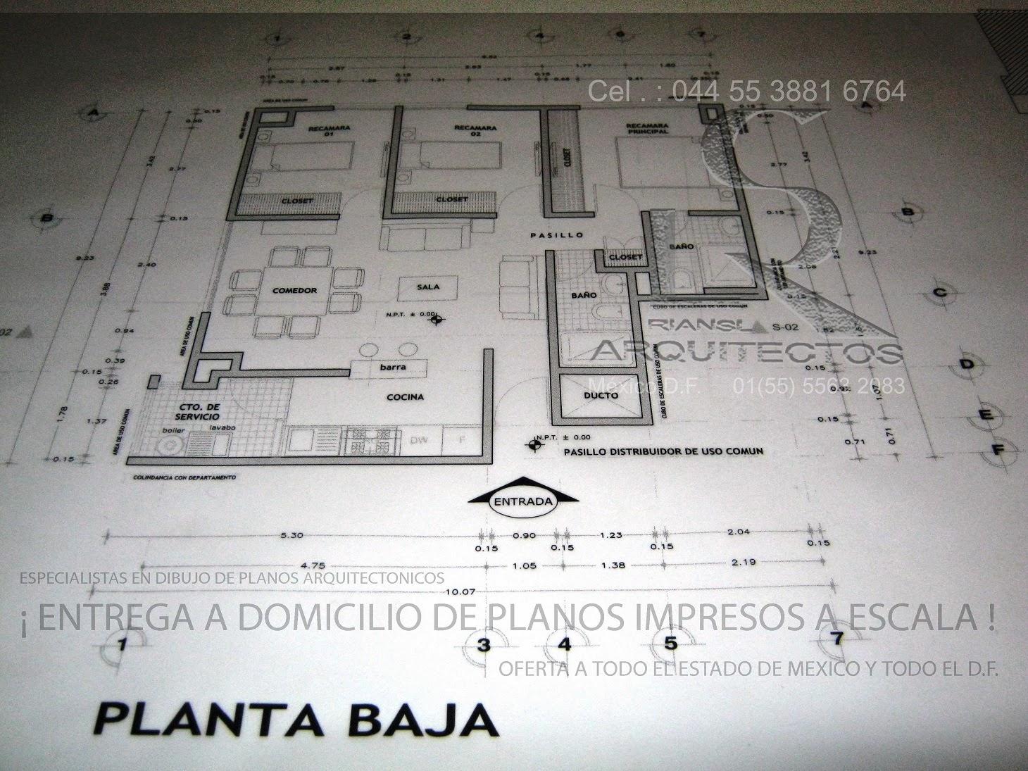 Especialistas en dibujo de planos arquitectonicos de casa for Pie de plano arquitectonico pdf