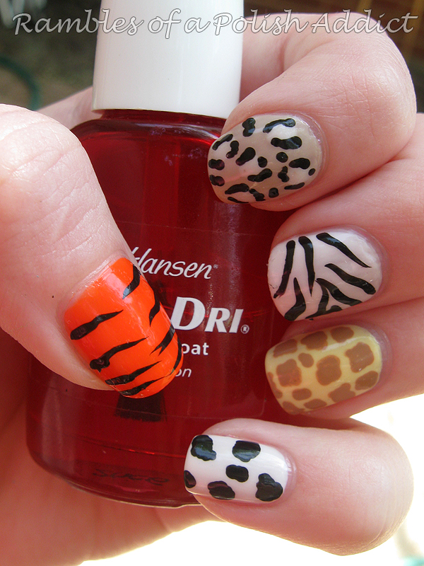Animal print skittle nail art! + Bunday Sunday! : Rambles of a Polish Addict